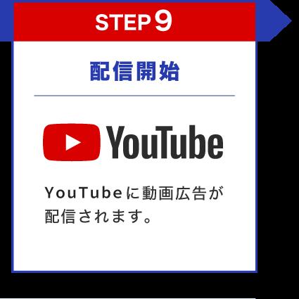 配信開始 youtubeに動画広告が配信されます。